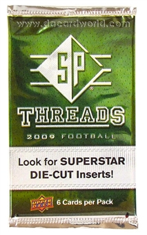 2009 Upper Deck SP Threads Football Retail Pack