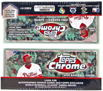 2009 Topps Chrome Baseball Retail 24-Pack Box