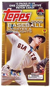 2009 Topps Updates & Highlights Baseball Blaster 10-Pack Box