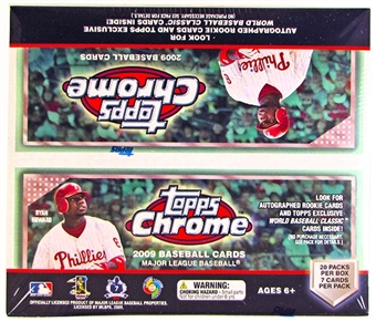 2009 Topps Chrome Baseball Retail 20-Pack Box