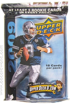 2009 Upper Deck Football Retail Pack