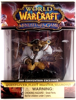 2009 GenCon Exclusive World of Warcraft Miniature Single Fleet Master Seahorn