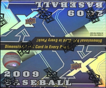 2009 Upper Deck X Baseball 24-Pack Box