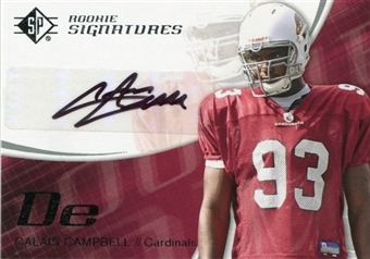2008 SP Authentic Retail #173 Calais Campbell Autograph Rookie