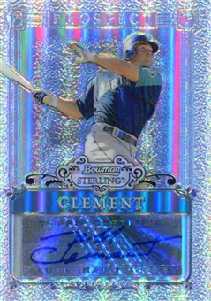 2006 Bowman Sterling Prospects Refractors #JC Jeff Clement /199 Rookie Autograph