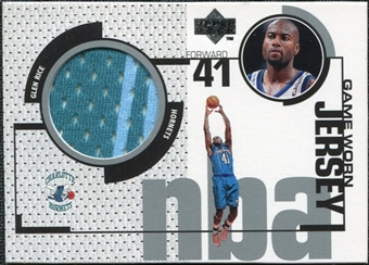 1998/99 Upper Deck Game Jerseys #GJ1 Glen Rice Turquoise & Light Blue