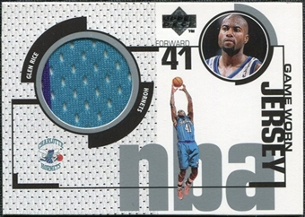 1998/99 Upper Deck Game Jerseys #GJ1 Glen Rice Turquoise & Purple