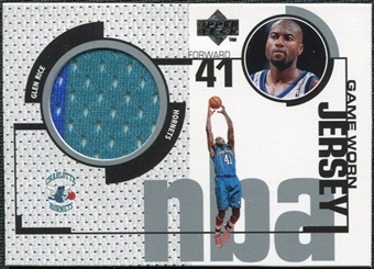 1998/99 Upper Deck Game Jerseys #GJ1 Glen Rice Turquoise & Blue