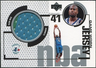 1998/99 Upper Deck Game Jerseys #GJ1 Glen Rice Turquoise & Green