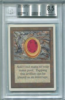 Magic the Gathering Unlimited Single Mox Ruby BGS 8.5 - *0008502519*