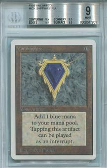 Magic the Gathering Unlimited Single Mox Sapphire BGS 9 - *0008647951*