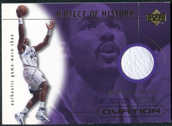 2000/01 Upper Deck Ovation A Piece of History Karl Malone Shoe #KMS White