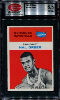 1961/62 Fleer Basketball #16 Hal Greer Rookie SCD 6.5 (EX/NM+) *8466