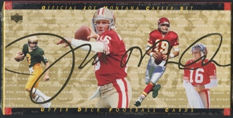 1995 Upper Deck Football Joe Montana Career Set