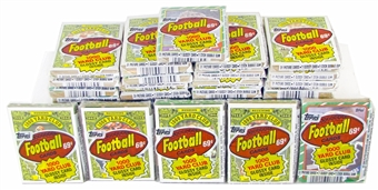 1986 Topps Football Cello Pack Lot (26 mis-wrapped packs)