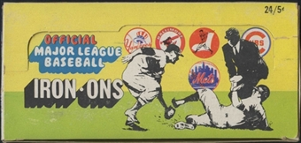 1968 Fleer Iron-Ons Baseball Box