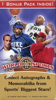 2010 Upper Deck World of Sports 11-Pack Box - JORDAN!!!