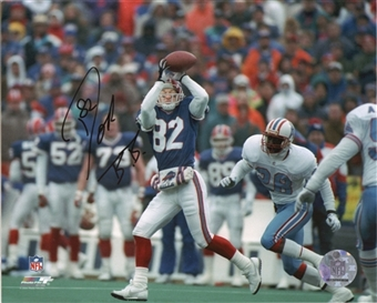 Don Beebe Autographed Buffalo Bills 8x10 Photo (Houston Comeback)