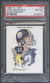 1989 TV-4 NFL Football #16 Terry Bradshaw PSA 10 (GEM MT) *6051