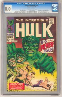 Incredible Hulk #102 CGC 8.0 (OW-W) *1004419005*
