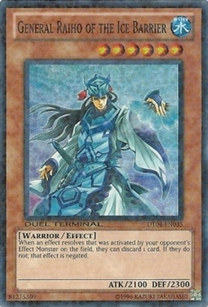 Yu-Gi-Oh Duel Terminal 4 Single General Raiho of the Ice Barrier Super Rare