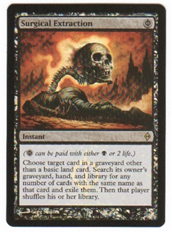 Magic the Gathering Promo Single Surgical Extraction Foil (New Phyrexia Buy-A-Box) - SLIGHT PLAY (SP)
