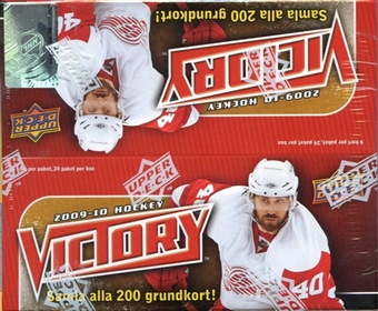 2009/10 Upper Deck Victory Hockey 24-Pack Box (Swedish)