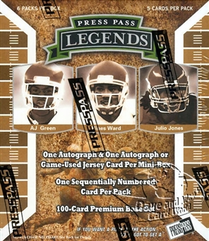 2011 Press Pass Legends Football Hobby Mini Box