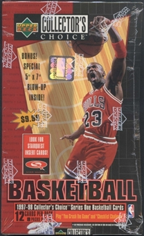 1997/98 Upper Deck Collector's Choice Series 1 Basketball 8-Pack Box