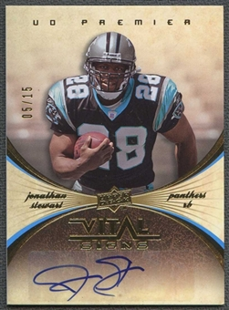 2008 Upper Deck Premier Football Jonathan Stewart Rookie Auto #05/15