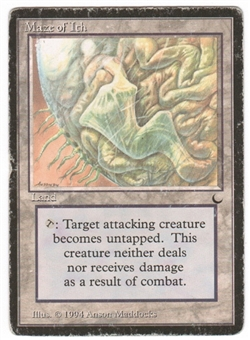 Magic the Gathering Dark Single Maze of Ith HEAVY PLAY (EX)