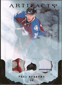 2010/11 Upper Deck Artifacts Jerseys Patches Tag Black #66 Paul Stastny 5/5