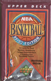 1991/92 Upper Deck Low # Basketball Hobby 36 Pack Lot