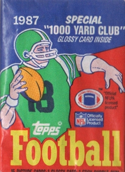 1987 Topps Football Wax 34-Pack Lot