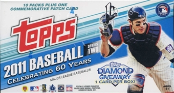 2011 Topps Series 2 Baseball 10-Pack Box