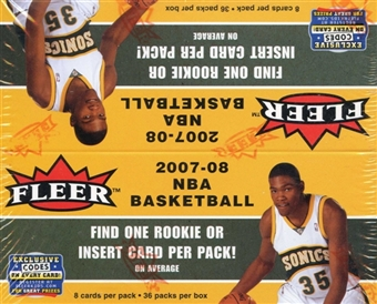 2007/08 Fleer Basketball 36-Pack Box