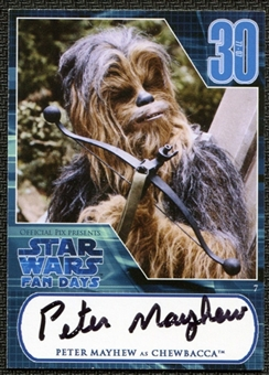 2007 Star Wars 30th Anniversary Fan Days Autographs Peter Mayhew - Chewbacca
