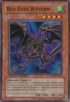 Yu-Gi-Oh Ancient Prophecy Single Red-Eyes Wyvern Super Rare - SLIGHT PLAY (SP)