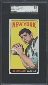 1965 Topps Football #122 Joe Namath Rookie SGC 86 (NM+ 7.5) *7001