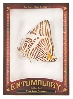 2011 Upper Deck Goodwin Champions #ENT9 Zebra Nymph Butterfly Entomology