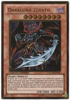 Yu-Gi-Oh Gold Series 4 Single Darklord Zerato