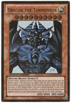 Yu-Gi-Oh Gold Series 4 Single Obelisk the Tormentor - SLIGHT PLAY (SP)