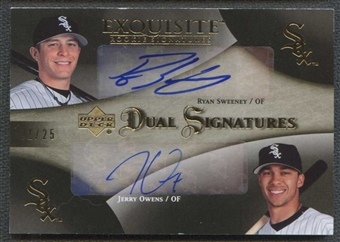 2007 Exquisite Collection Rookie Dual Signatures Ryan Sweeney Jerry Owens /25