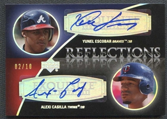 2007 Exquisite Collection Rookie Reflections Autographs Silver Spectrum #EC Yunel Escobar Alexi Casilla 2/10