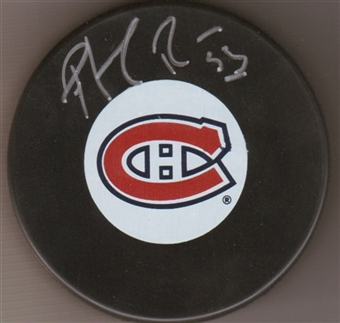 Patrick Roy Autographed Montreal Canadians Hockey Puck