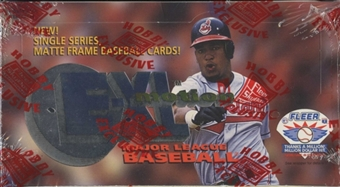 1996 Fleer Emotion X-L Baseball Hobby Box