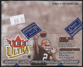 2000 Fleer Ultra Football Retail Box