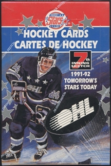 1991/92 7th Inning Sketch OHL Tomorrows Stars Today Hockey Hobby Box