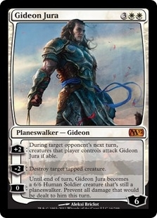 Magic the Gathering 2012 Single Gideon Jura UNPLAYED (NM/MT)