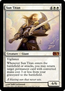 Magic the Gathering 2012 Single Sun Titan Foil